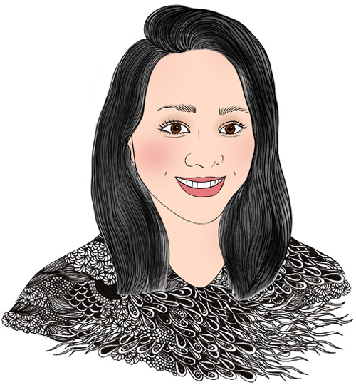 illustration portrait of Michelle Peng