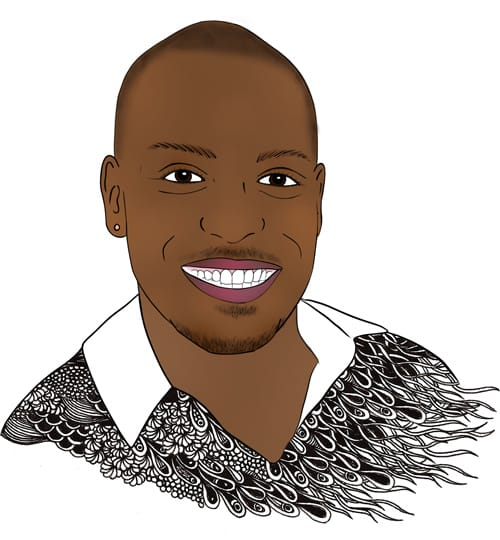 Team Tylie Anthony Williams portrait illustration